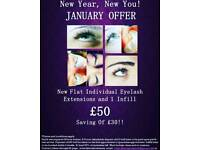 OFFER - eyelash extensions and infil £50