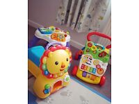 Baby walker lion ride on activity centre
