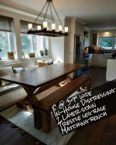 Handmade solid wood custom tables