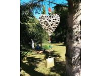 🎁Handcrafted Heart with Vintage Cow Bell Wind-chime, Suncatcher