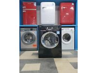 wd5169 black & chrome beko 9kg 1300 spin washing machine with warranty can be delivered or collect