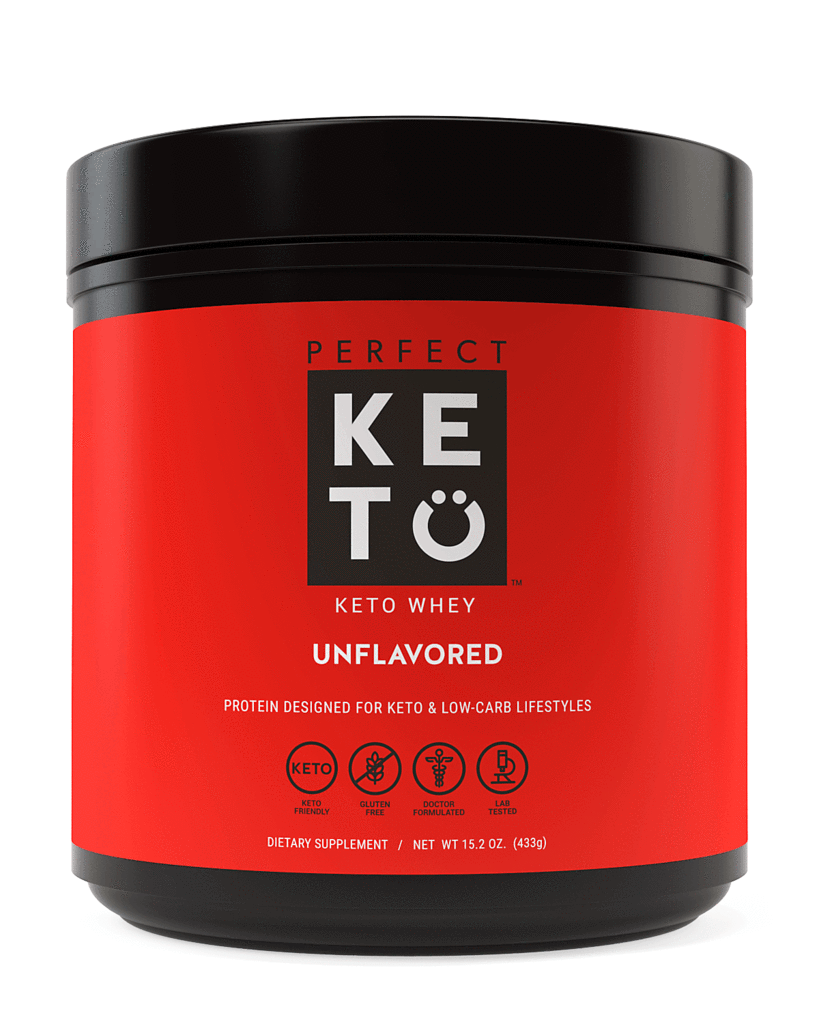 Perfect Keto Unflavored Whey Protein Powder Isolate W/ MCT P