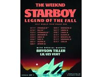 1x The Weeknd, Standing ticket, O2 Arena, Teusday 7th March