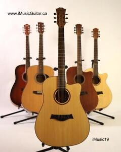 Nice Look ! Acoustic Guitar with Free Guitar stand, eTuner and 5 picks iMusic19 Full size