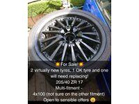 """17"""" alloy wheels 4x100"""