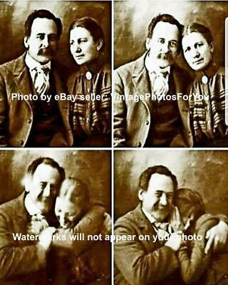Old Antique Vintage Cute Funny Weird Strange Victorian Couple Laughing - Funny Old Couples