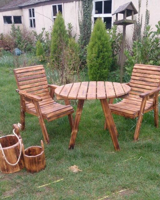 Magnificent 2X Handmade Wooden Chairs And Round Table In Attleborough Norfolk Gumtree Download Free Architecture Designs Rallybritishbridgeorg