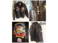 Disney Planes Faux Leather Bomber Jacket Size 7-8