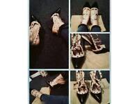 Womens studded heels, size 5