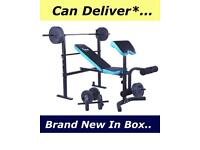 BrandNew Folding Bench With Weights Set. •Can Deliver•