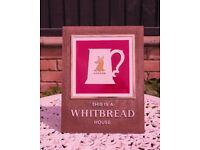Whitbread pub bar signs