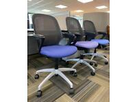 Verco Salt n Pepper Modern Office Chair, Mesh Back, Armrests.