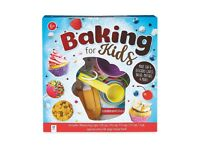 Baking For Kids Activity Set, Includes Measuring cups, Spatula and 48 Page recipe book, Brand New