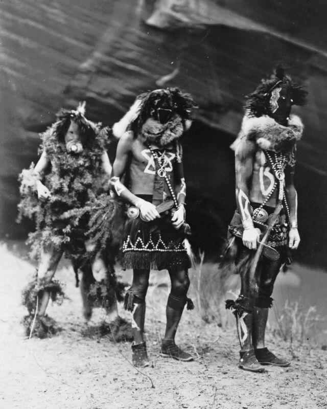 New 8x10 Native American Photo: Yebichai Indian War Gods in Ceremonial Dress