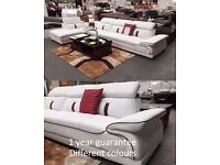 white premium leather corner sofa