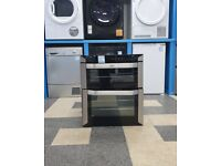 Q5468 stainless & black belling built in electric oven with warranty can be delivered or collected