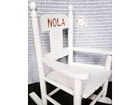 Personalised Wooden rocking chairs (child)