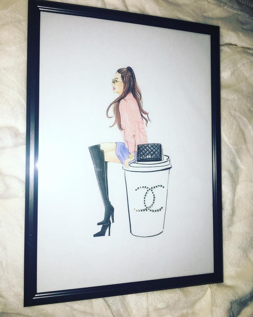 Chanel girl inspired frame