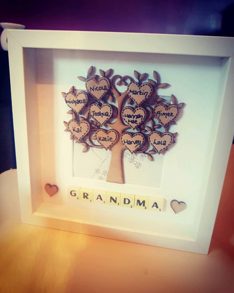 Family Tree Scrabble Frames