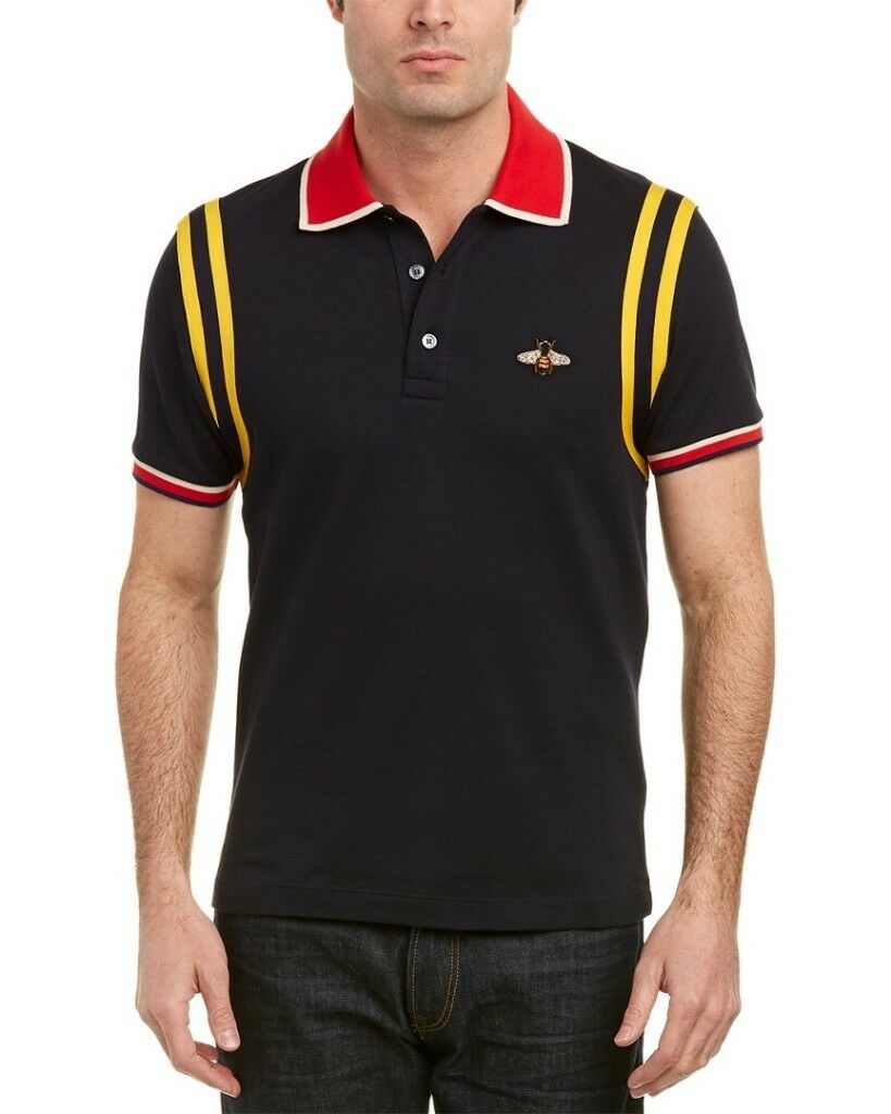 8659d06eb30 Gucci Type Men s Bee Polo Shirt