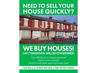 We buy houses in Dudley, Oldbury and Brierley Hill, call us if you need to sell quickly!