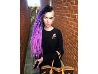 Synthetic and Natural Dreadlock Hair Extensions and Installation Service in the North East.