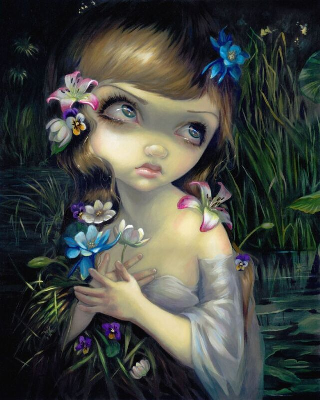 FAIRY ART PRINT Voodoo In Blue by Jasmine Becket-Griffith Gothic Poster 11x14