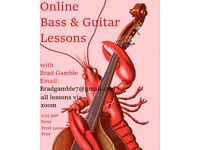 Online Bass & Guitar Lessons