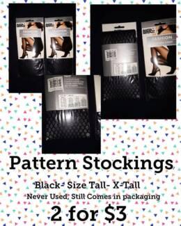 Pattern Stockings- BULK new
