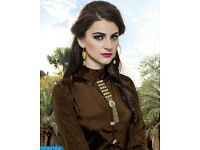 RIWAAZ FINE READYMADE TOP WITH LEHENGA STYLE KURTIS