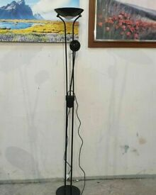 Father & Child Uplighter Floor Lamp - Black No070506