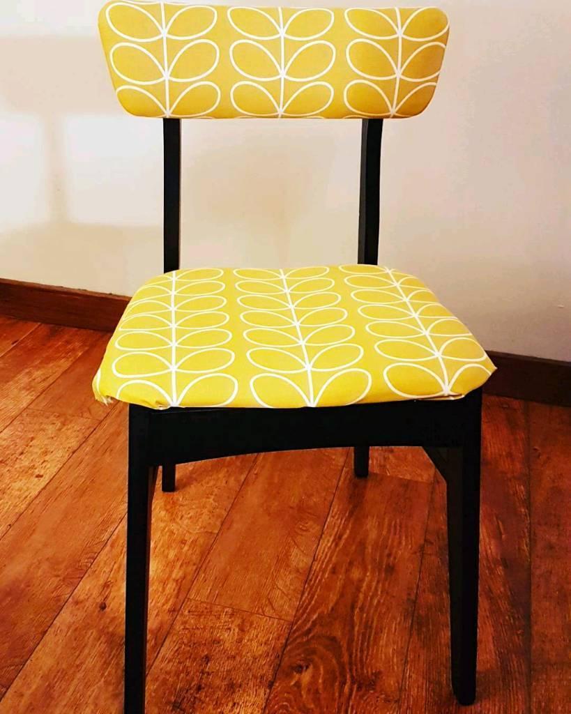 Beautiful Stunning Orla Kiely 1950u0027s Mid Century Modern Occasional/desk Chair.
