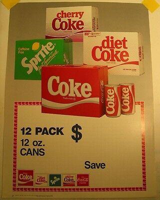 Coke, diet Coke, Sprite, Cherry Coke & CC Classic Sign