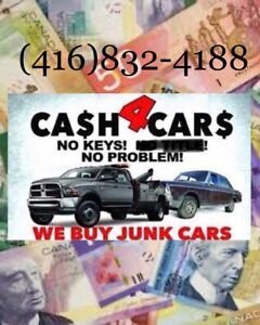 We buy your unwanted vehicles for top cash $$$ (416)832-4188