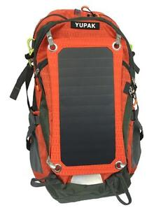 YUPAK Solar Panel Backpack with 7Watts Solar Panel & 10000 mAh Power Bank - Ship across Canada