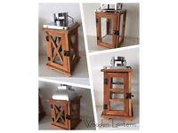New in box wooden lanterns