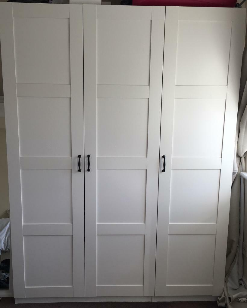Ikea Pax Fitted Wardrobe White 3 Door Unit With Shelving And Drawers In Greenwich London Gumtree