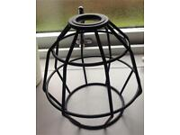 Industrial cage/basket pendant shade