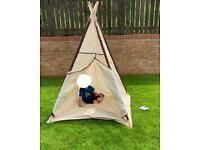 LAVIEVERT Indian Canvas Teepee Children Playhouse Kids Play Tent