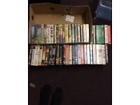 51 x VHS video tapes, children and adults, comedy, sport, music