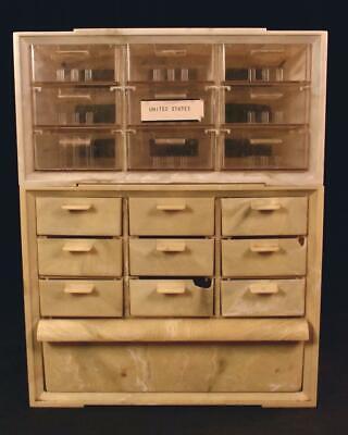 Vintage Akro-mils Stacking Parts Cabinet 19 Drawers Storage Plastic Akron Ohio