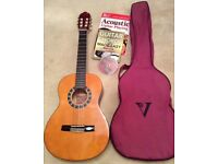 3/4 Size Acoustic Guitar with books