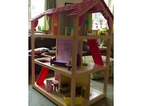 Kidcraft huge double sided dolls house, ten rooms, fits Barbie