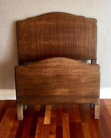 Antique Staples Solid Wood Headboard and Footboard Bed