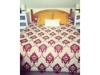 Pine double bed frame in good condition. Low foot end. Buyer to collect. Must go by Friday 20 April.