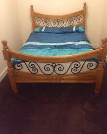 Harvey's Double Solid Oak Bed