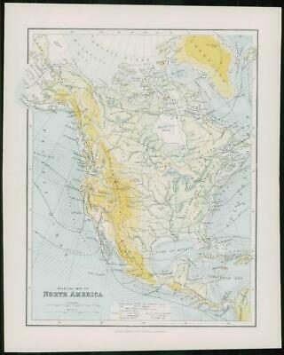 1903 Original Antique Colour Map  - NORTH AMERICA MEXICO HONDURAS (42)