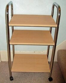 3 shelf TROLLEY for catering or computer, tv hi-fi or anything! Like new.