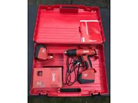 Hilti SF 150-A cordless drill with 2x 3.0 ah batteries and charger