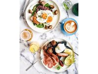 Breakfast Chef, Upscale Aussie cafe, £10p/hr + Tips, Sociable hours